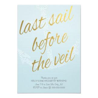 Last Sail Before the Veil Bachelorette in Sky Blue Card