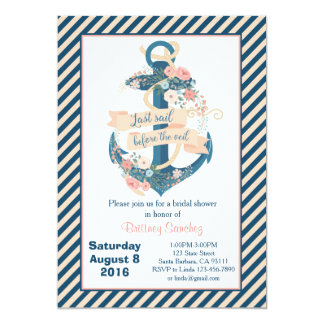 Last Sail Before The Veil, Bachelorette Party Card