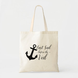 Last Sail Before the Veil Bachelorette Tote Bag