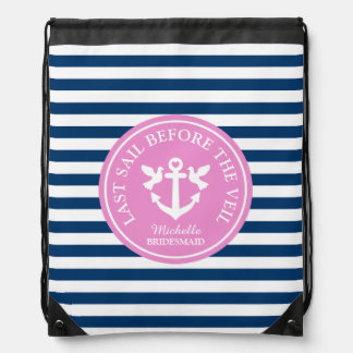 LAST SAIL BEFORE THE VEIL nautical drawstring bag