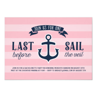 Last Sail | Nautical Bachelorette Party Card