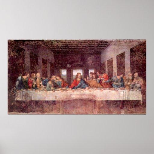 Last Supper by Leonardo da Vinci, Renaissance Art Poster