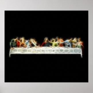 Last Supper da Vinci Jesus Fractal Painting Poster
