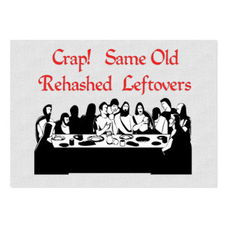 Last Supper Leftovers Large Business Cards (Pack Of 100)
