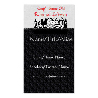 Last Supper Leftovers Double-Sided Standard Business Cards (Pack Of 100)