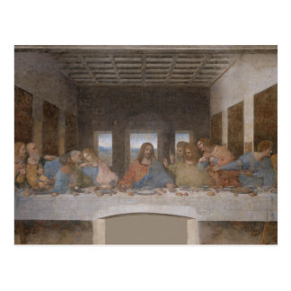 Last Supper Leonardo Da Vinci Painting Postcard