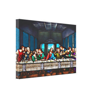 Last Supper Stretched Canvas Print