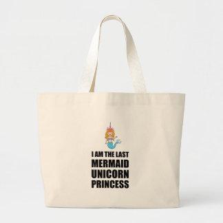 Last Unicorn Mermaid Princess Large Tote Bag