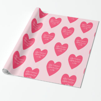 Last Valentine's Before Wedding Wrapping Paper