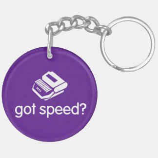last word/ got speed steno Double-Sided round acrylic key ring