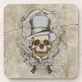 Last Word Skull & Guns Coaster