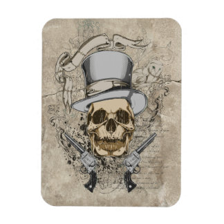 Last Word Skull & Guns Rectangular Photo Magnet