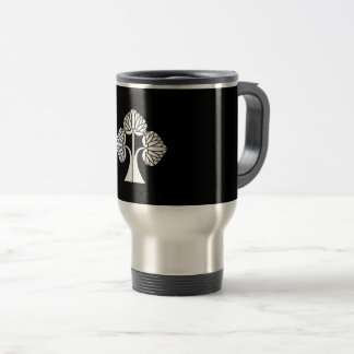 Lasting hollyhocks travel mug