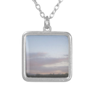 Late Afternoon 2 Silver Plated Necklace
