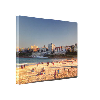 Late Afternoon Bondi Beach Gallery Wrapped Canvas