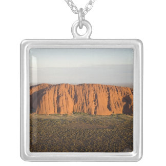 Late Afternoon Light on Uluru / Ayers Rock, Square Pendant Necklace