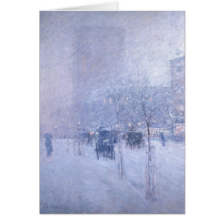 Late Afternoon New York Winter - Childe Hassam Card