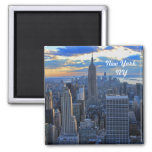 Late afternoon NYC Skyline as sunset approaches #2 Fridge Magnet