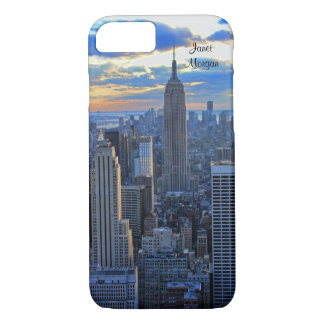 Late afternoon NYC Skyline as sunset approaches iPhone 8/7 Case