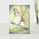 Late - Alice in Wonderland Greeting Card