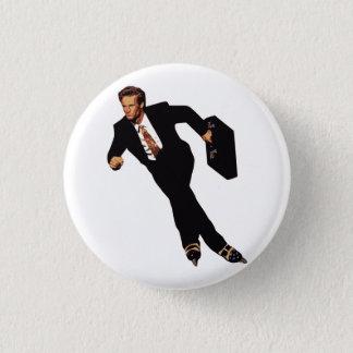 Late For Business Rollerblade Skater Meme 3 Cm Round Badge