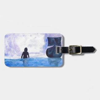 Late Night Swim Luggage Tag