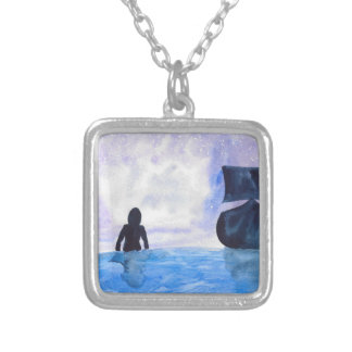 Late Night Swim Silver Plated Necklace