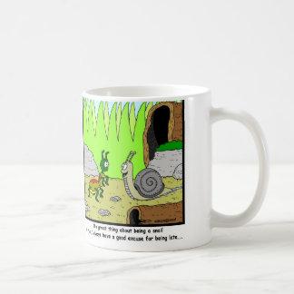 Late: Snail Cartoon Coffee Mug