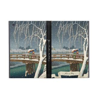 Late Snow Along Edo River hasui kawase winter art Covers For iPad Mini