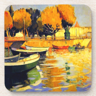 Late Summer on the Water in Portugal Vintage Coaster