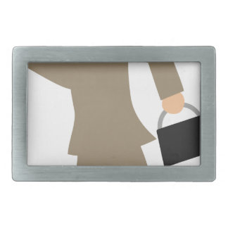 Late to Work Rectangular Belt Buckles
