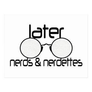 Later Nerds & Nerdettes Spectacle Eyeglasses Postcard