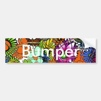 Latest colorful amazing floral pattern design art. bumper sticker