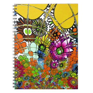 Latest colorful amazing floral pattern design art. notebooks