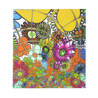 Latest colorful amazing floral pattern design art. notepad