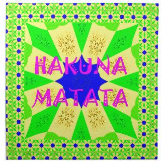 Latest Hakuna Matata Beautiful Amazing Design Colo Napkin