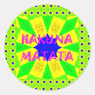 Latest Hakuna Matata Beautiful Amazing Design Colo Round Sticker