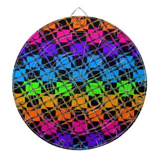 Latest lovely edgy colorful happy reflection desig dartboard