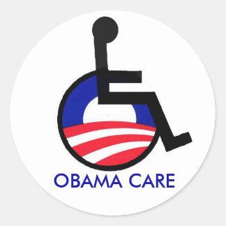 latest, OBAMA CARE Round Sticker