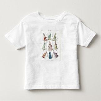 Latest Paris Fashions, nine day dresses in a fashi T-shirts