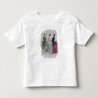 Latest Paris Fashions, three day dresses in a fash Tshirt