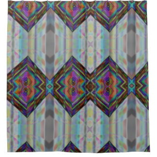 Latest Sindhi Lovely Traditional Pattern Design Shower Curtain