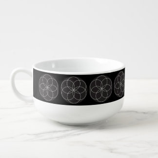 Lathe Flower Soup Mug