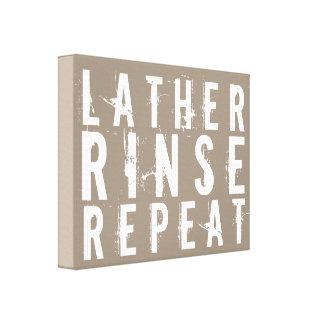 Lather Rinse Repeat Trendy Bathroom Wall Decor