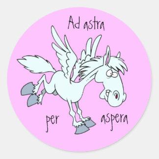 Latin Ad astra per aspera Stickers