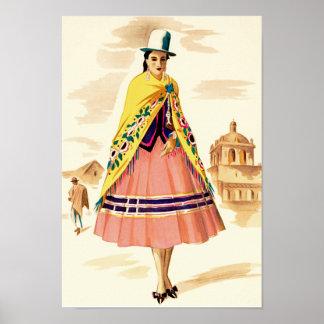 Latin American Woman Poster