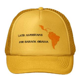 LATIN AMERICANS FOR BARACK OBAMA mesh hat