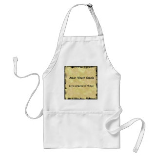 Latin Amor Vincit Omnia LOVE CONQUERS ALL THINGS Apron