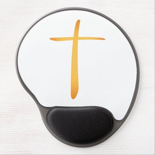 Latin Christian Cross Gel Mousepads