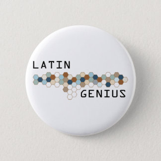 Latin Genius 6 Cm Round Badge